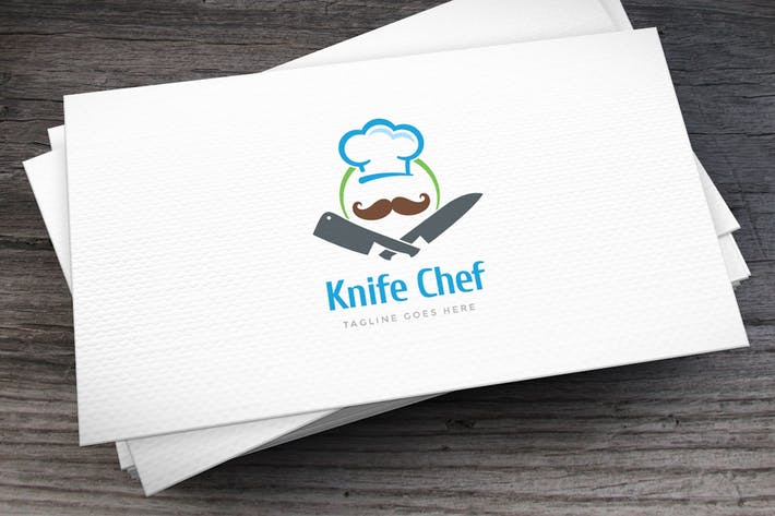 Cover Image For Knife Chef Logo Template
