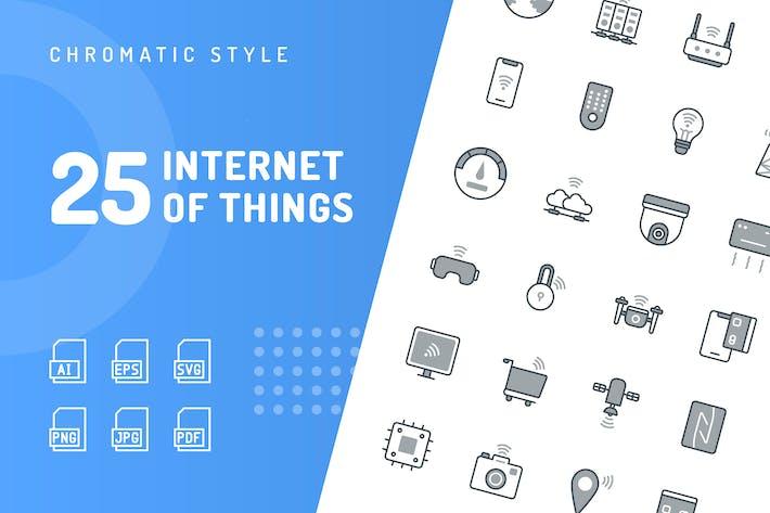 Thumbnail for Internet der Dinge Chromatische Icons
