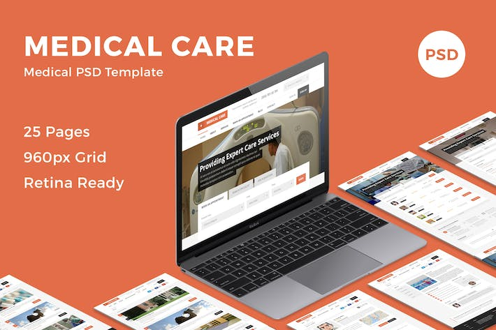 Thumbnail for Medical Care - Medical PSD Template