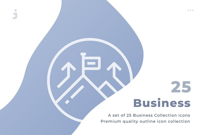 Thumbnail for 25 Business Collection icon set