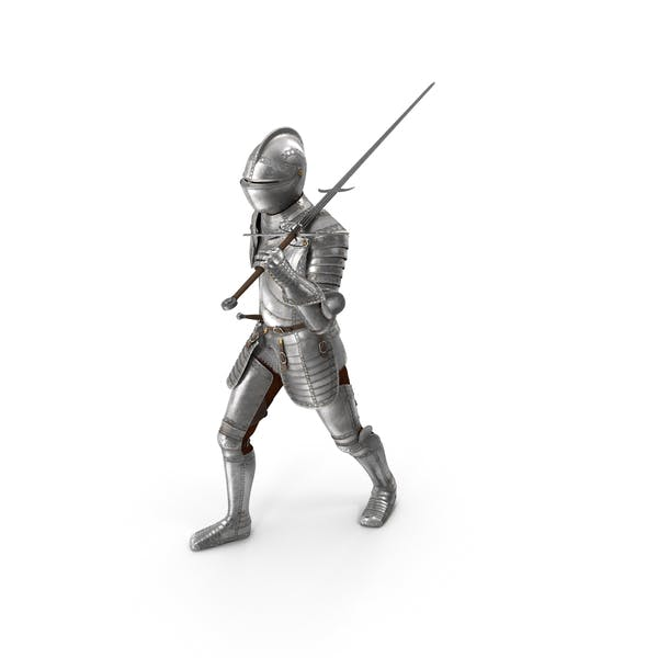 Medieval Knight Plate Armor Walking Pose