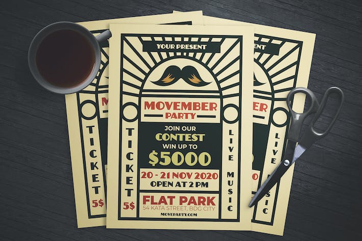 Thumbnail for Movember Party Flyer