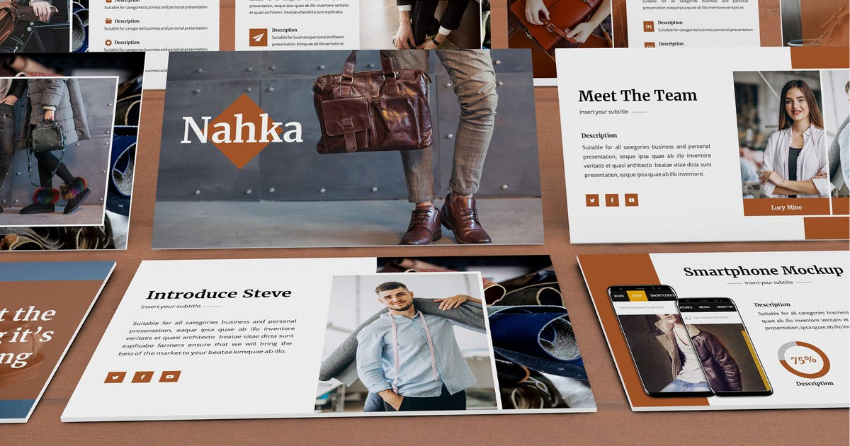 Download Nahka - Fashion Powerpoint Template by SlideFactory