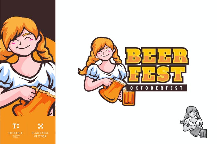 Thumbnail for Oktoberfest Beer Festival Logo Illustration Vector