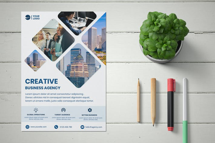 Thumbnail for Creative Corporate Business Flyer template