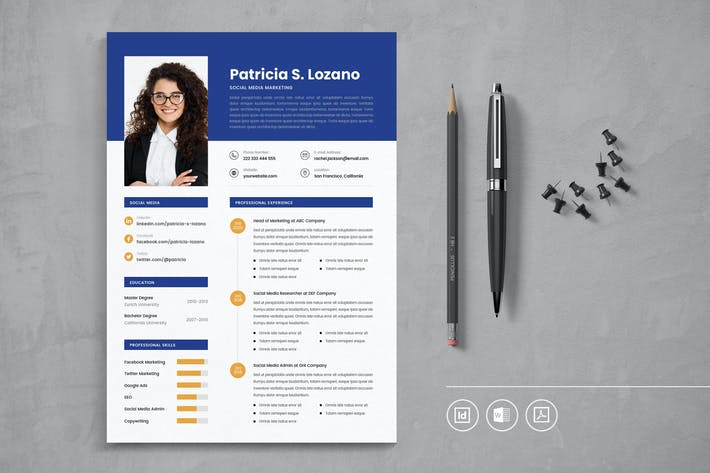 Thumbnail for Professional CV Resume Indesign Template Vol.13