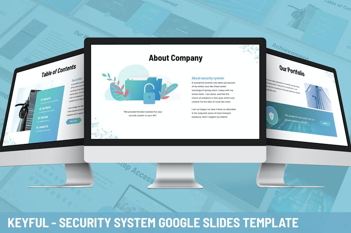 Thumbnail for Keyful - Security System Google Slides Template