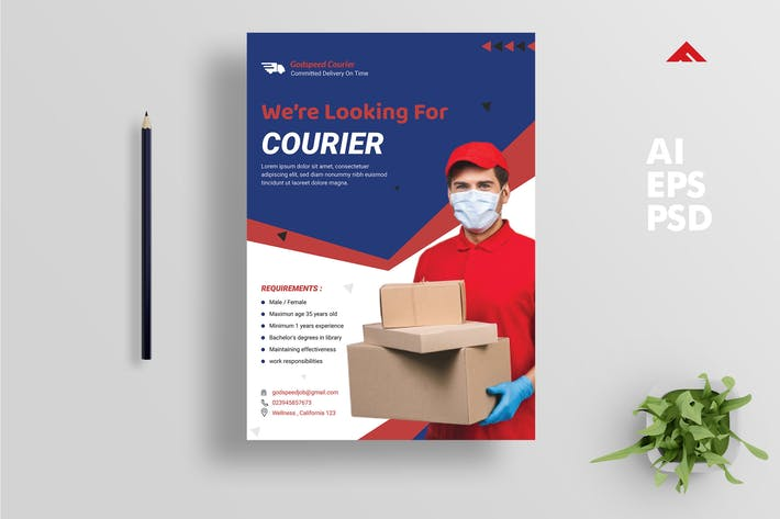Thumbnail for Courier Job Hiring Advertisement