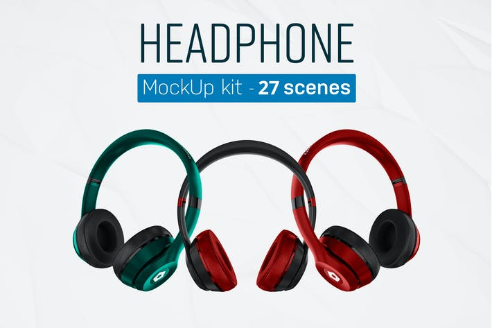 Thumbnail for Headphones Mockup Kit