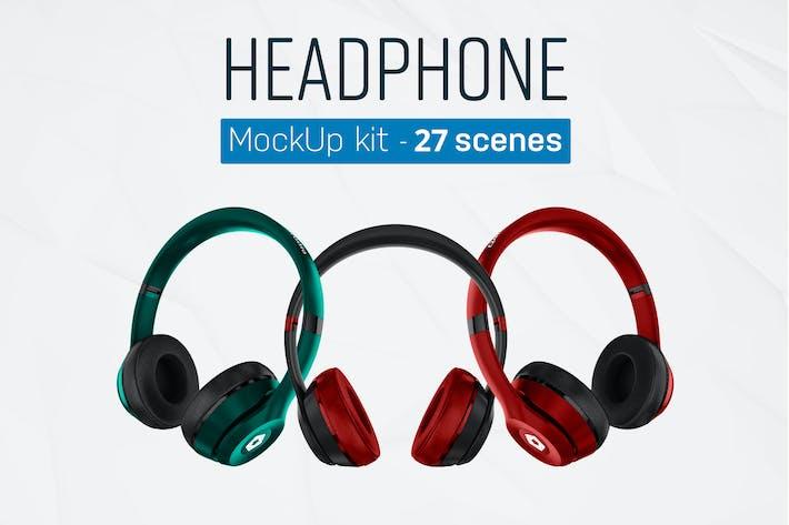 Thumbnail for Headphones Mockup Kit