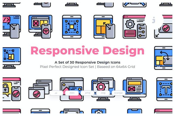 Thumbnail for 30 Отзывчивый Дизайн Иконки