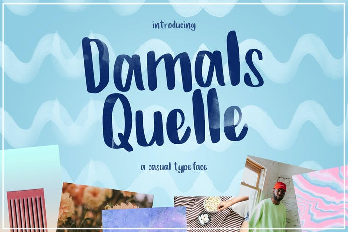 Thumbnail for Damals Quelle - A Casual Typeface
