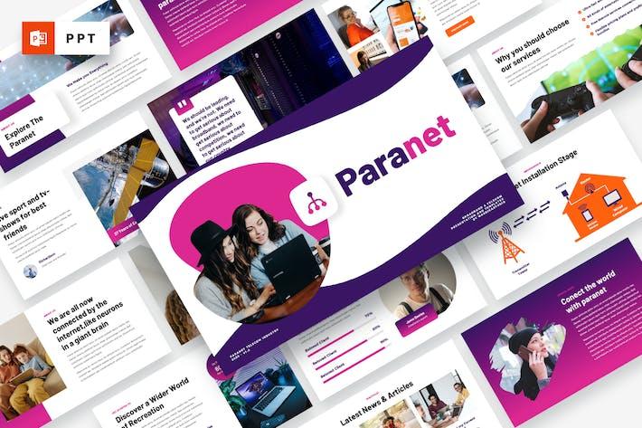 Thumbnail for Paranet - Broadband & Telecom Powerpoint Template