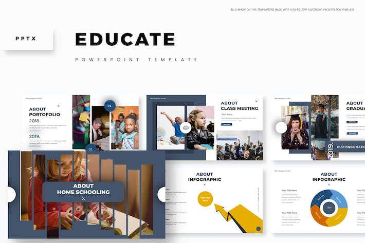 Cover Image For Educate - Powerpoint Template