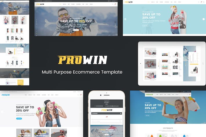 Thumbnail for Prowin - Sport Responsive Prestashop Theme