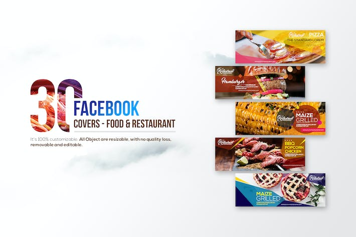 Thumbnail for 30 Food & Restaurant Facebook Covers