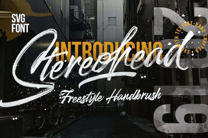 Thumbnail for Stereohead SVG Signature Brush  FONT