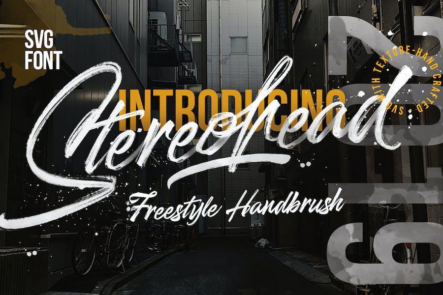 Stereohead SVG Signature Brush  FONT
