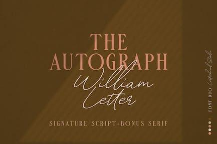Guión de firma de letra William