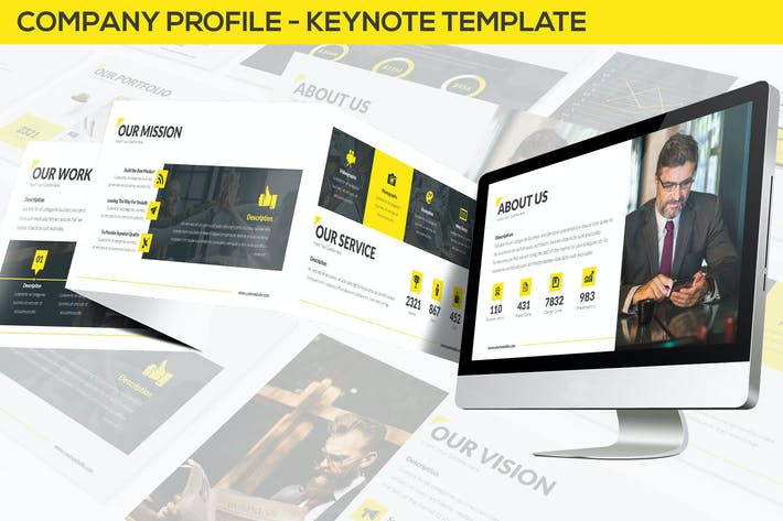 Cover Image For Company Profile - Keynote Template