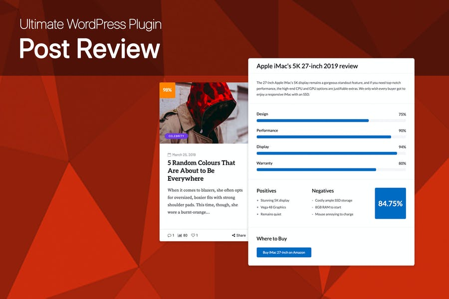 Ultimate Post Review - WordPress Rating/Reviews