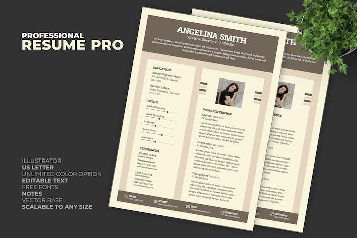 Thumbnail for Resume / CV Template Pro