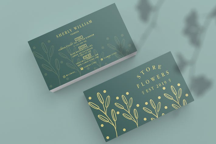 Thumbnail for Flowers Store Business Card