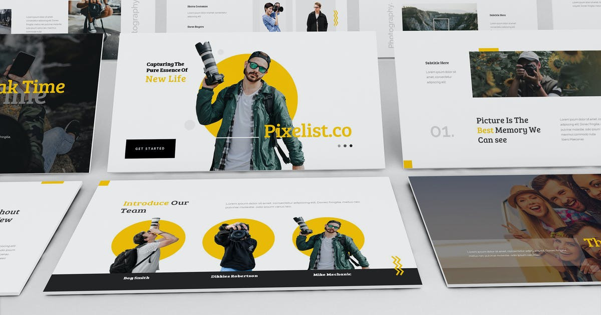 Download Pixelist - Photography Keynote Template by giantdesign