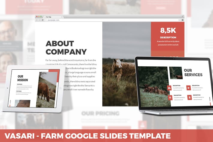 Thumbnail for Vasari - Farm Google Slides Template