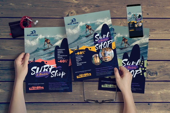 Thumbnail for Surf Shop Flyer