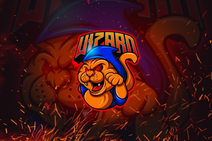 Thumbnail for Cat Wizard - Mascot & Esports Logo YR