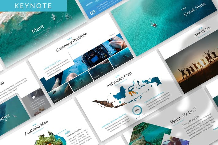 Thumbnail for Mare - Ocean Keynote Template