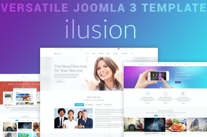Thumbnail for ilusion - Универсальный Шаблон Joomla 3