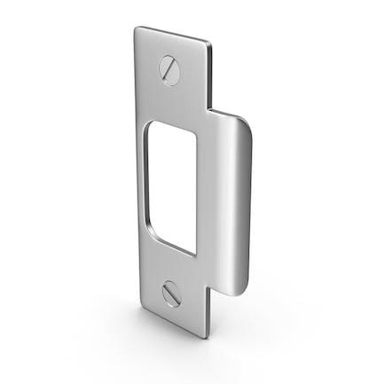 Door Lock Strike Plate With Screwhead