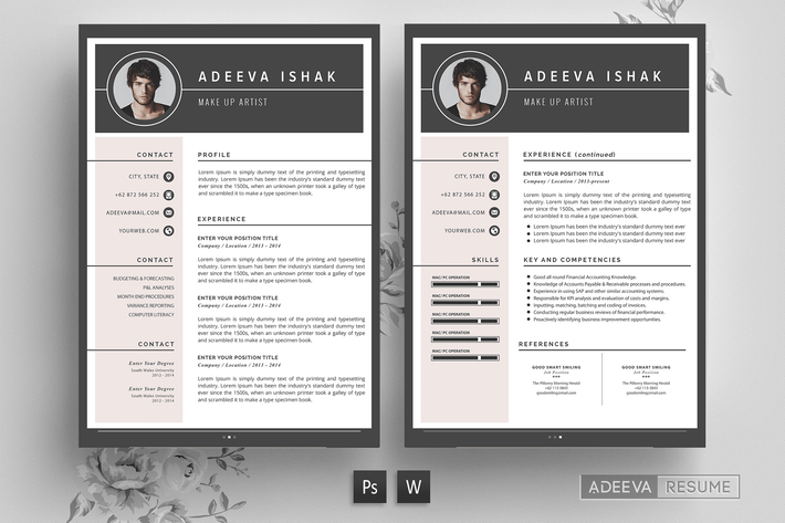 Thumbnail for Professional Resume Template Ishak