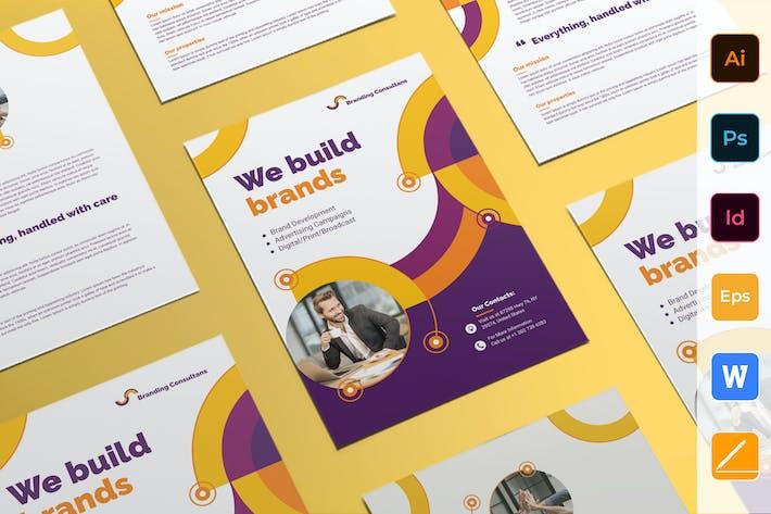 Thumbnail for Branding Consultant Flyer