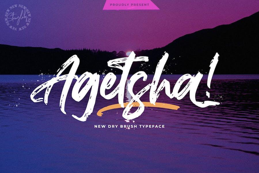 Agethsa - Fuente de pincel texturizado
