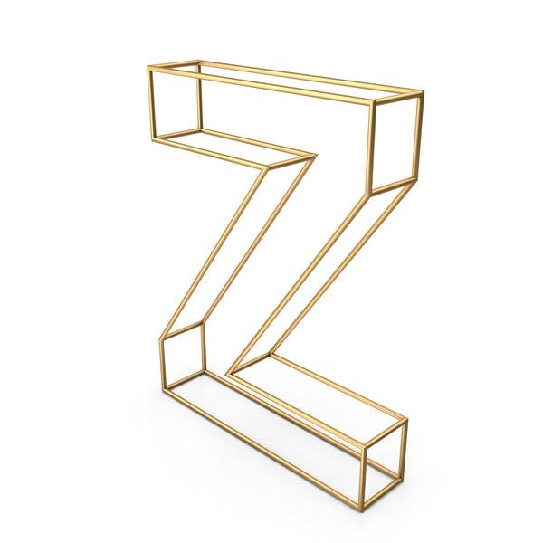 Декоративная проволочная буква Z