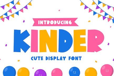 Kinder - Bold Handwritten Display Font