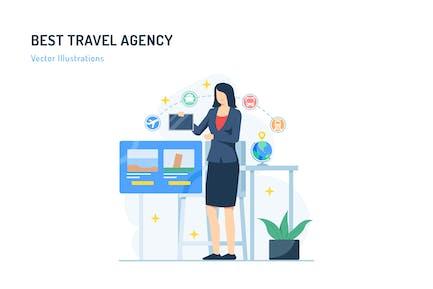 Best Travel Agency - Travel Illustration