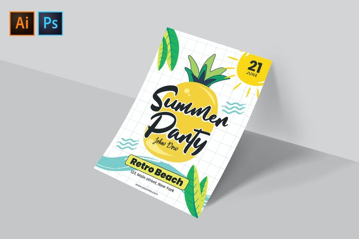 Thumbnail for Summer Party Flyer/Poster Template