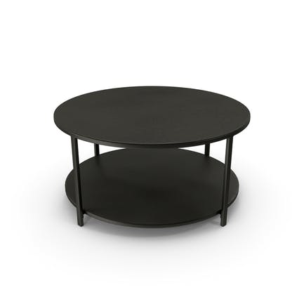 Round Coffee Table Black