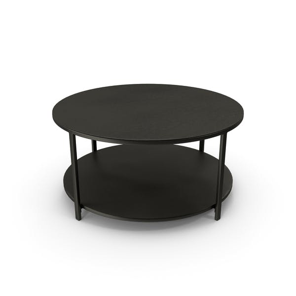 Round Coffee Table Black