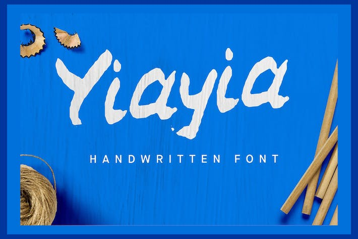 Thumbnail for YiaYia Handwritten font