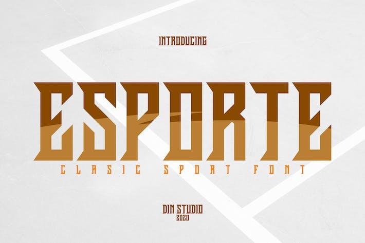 Thumbnail for Fuente deportiva Esporte-Classic