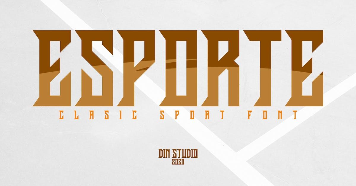 Download Esporte-Classic Sport Font by Din-Studio