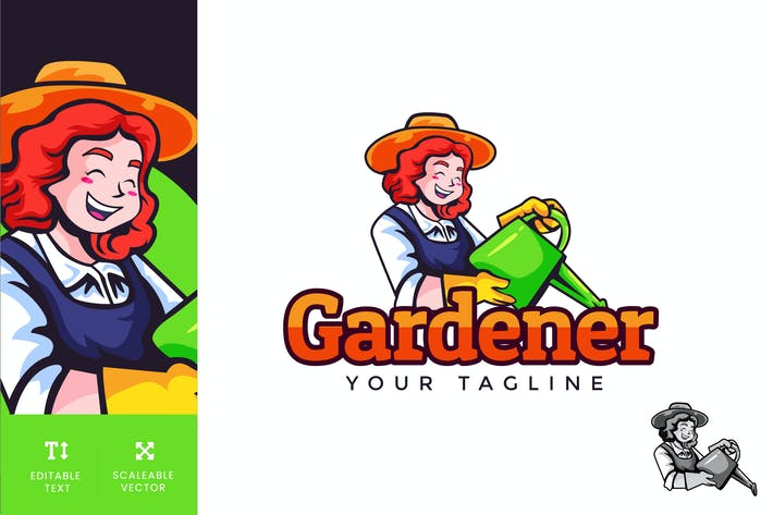 Thumbnail for Vecteur d'illustration Logo Gardener