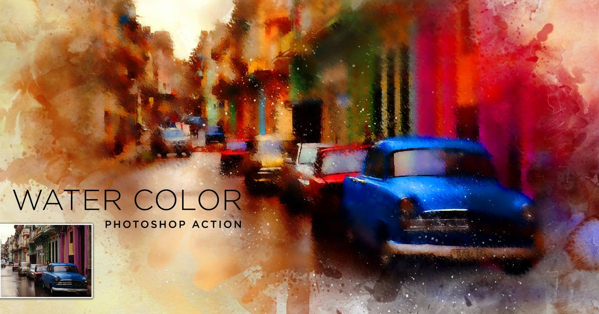 Download Water Color Painting Photoshop Action by walllow