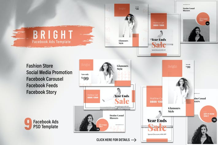 Thumbnail for BRIGHT Fashion Store Facebook Ads Web Banner