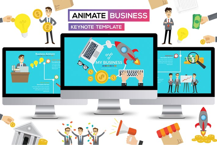 Thumbnail for Business Animate Keynote Presentation